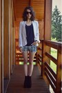 Navy-mexx-jacket-blue-ba-sh-shorts-silver-t-shirt