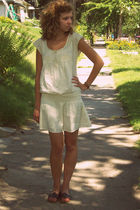 beige American Eagle dress - brown Aeropostale shoes