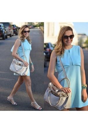 sky blue fashion union dress