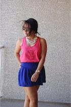 blue f21 shorts - orange Unavailable top