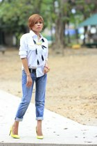 Chilly Papa jeans - Fred Perry top - Christian Louboutin heels