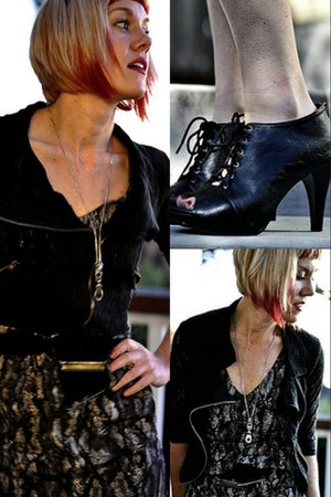 black lace unknown blazer - python H&M Trend dress