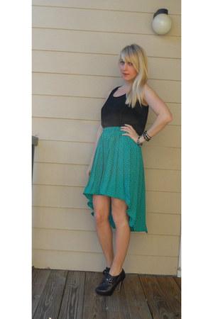green vintage skirt skirt