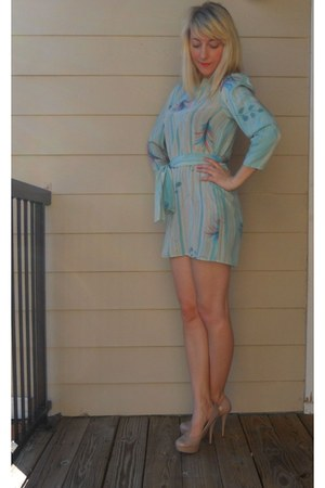 pastel flowers Vintage Thrifted dress