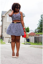 Forever21 skirt - red Aldo bag - Forever21 top