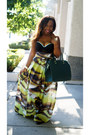 Forest-green-h-m-bag-dark-green-znak-skirt-black-andrea-iyamah-swimwear