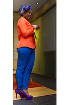 blue Etsy hat - orange Urban Planet blazer - yellow asoscom bag