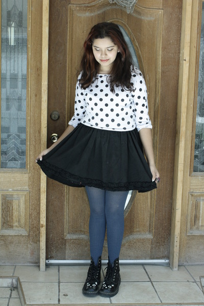 Black Cat Boots Navy Leggings Black Skirts Silver Owl ...