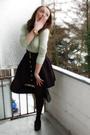 Black-h-m-skirt-black-h-m-shoes-gold-h-m-accessories-