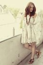 Beige-zara-dress-brown-h-m-accessories-brown-akira-shoes
