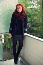 black Thread Sence blazer - black Tally Weijl skirt - black Gio Moda shoes - bla