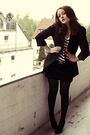 Black-mango-skirt-white-h-m-shirt-black-vintage-jacket-red-h-m-necklace-