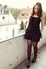 Black-vagabond-shoes-gray-h-m-blazer-black-h-m-dress