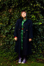 Green-t2-vintage-dress-navy-t2-vintage-coat-purple-veritas-tights