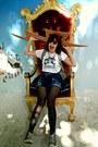 Blue-denim-vintage-shorts-white-band-tee-vintage-t-shirt