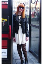 ivory Vero Moda dress - black chelsea vintage from Ebay boots