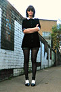 White-monochrome-wholesale-boots-black-velvet-rokit-vintage-shirt