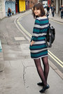 Teal-striped-uniqlo-dress