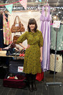 Yellow-patterned-vintage-dress