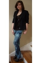 Tevrow & Chase blazer - banana republic top - jeans - Target shoes