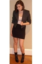 thrifted blazer - Ella Moss top - Wolford skirt - Kors by Michael Kors boots
