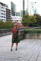 green midi PartySkirts skirt