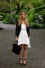 Off-white-white-anine-bing-dress-black-leather-muubaa-jacket