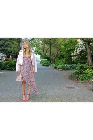 hot pink floral Forever 21 dress