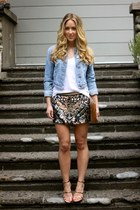 gold sequin All Saints skirt