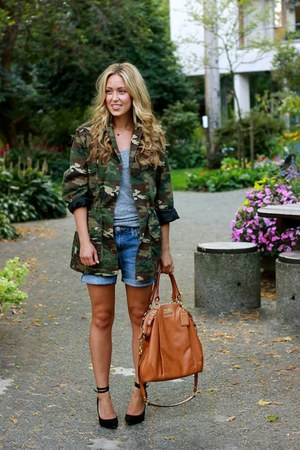dark green camo asos jacket - black turner pumps Pour La Victoire heels