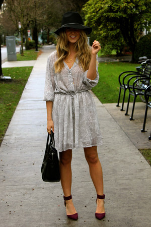 heather gray mini Anine Bing dress