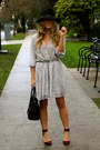 Heather-gray-mini-anine-bing-dress