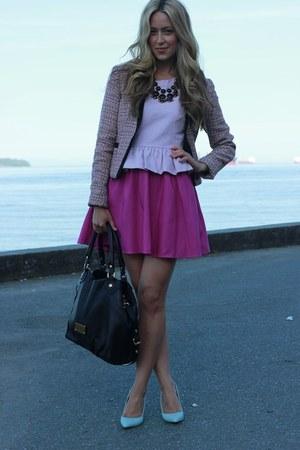 magenta a line Forever 21 dress - light blue kathryn Shoe Mint heels
