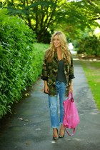 forest green camo asos jacket - magenta mid city tote foley  corinna bag