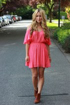 salmon cut out Windsor Store dress
