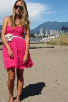 hot pink cotton Zara dress
