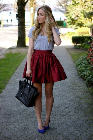 crimson a-line Party Skirts skirt