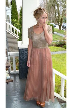 light pink vintage unknown dress - tawny dany Jessica Simpson heels