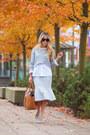 Silver-midi-bcbgmaxazria-skirt