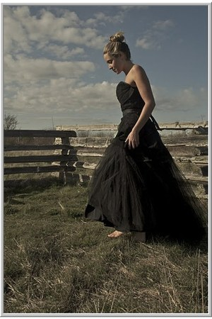 black tulle vintage dress
