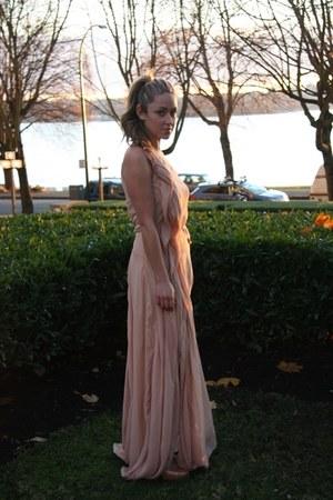 peach maxi Lush dress