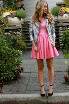 hot pink lace beginning boutique dress