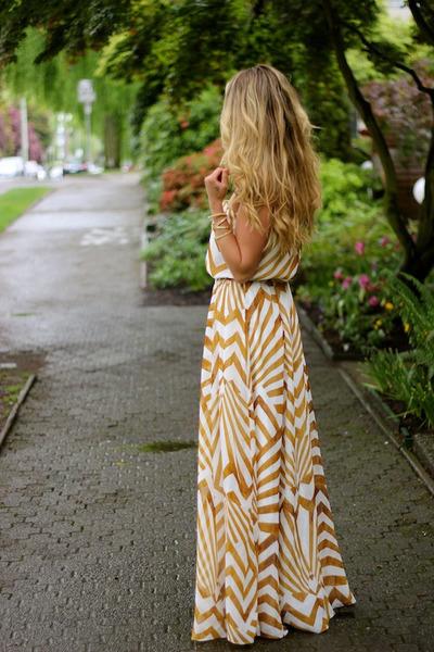 gold maxi BB Dakota dress
