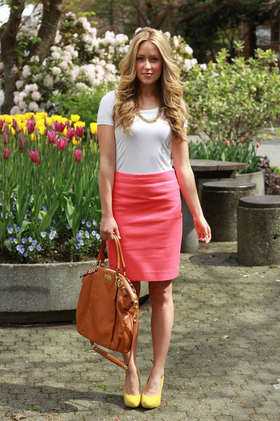 Hot Pink Pencil Skirt Skirt | Chictopia