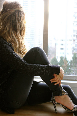 dark gray free people sweater