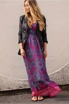magenta maxi American Eagle dress