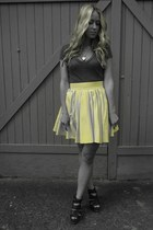 light yellow cotton Blaque Label skirt