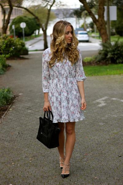 cream floral Anine Bing dress