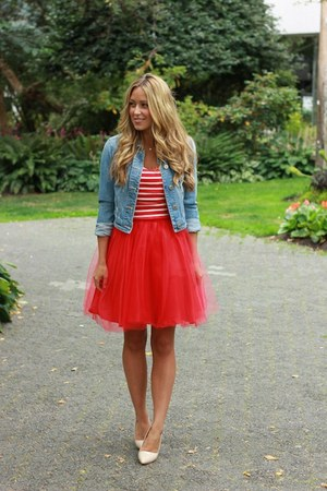 red tulle Windsor Store dress