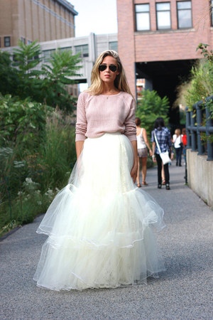 white tulle Beautulleful skirt